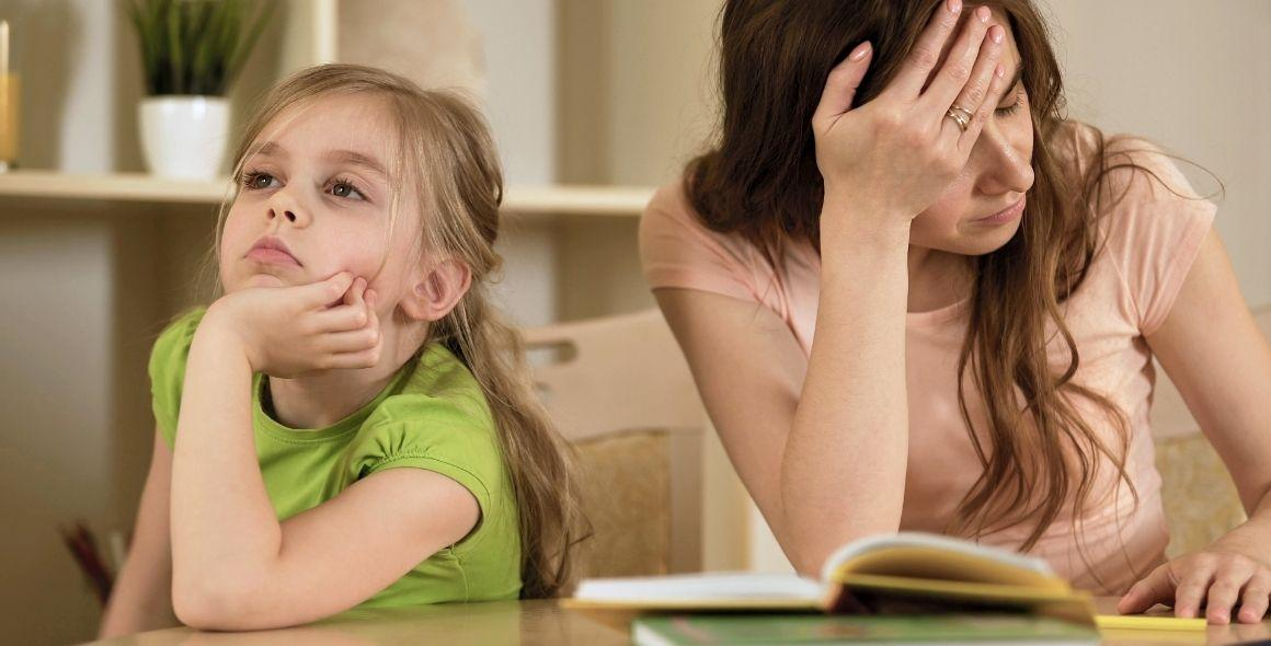 Mother frustrated with daughter homeschooling