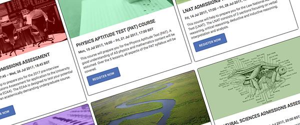 Admissions Test Finder