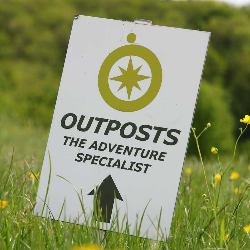 Outposts sign in field